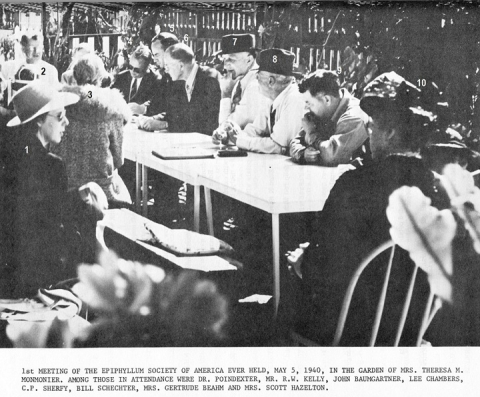 First meeting of the ESA May 5, 1940